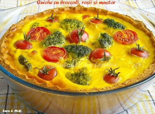 Quiche cu broccoli, rosii si mustar 3-1