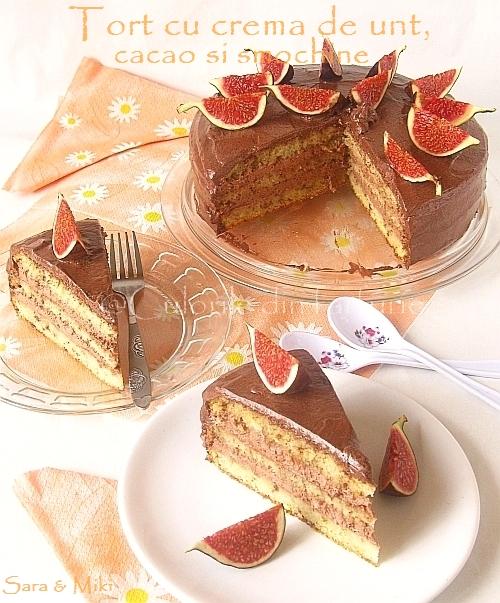 Tort-cu-crema-de-unt, cacao-si-smochine 5