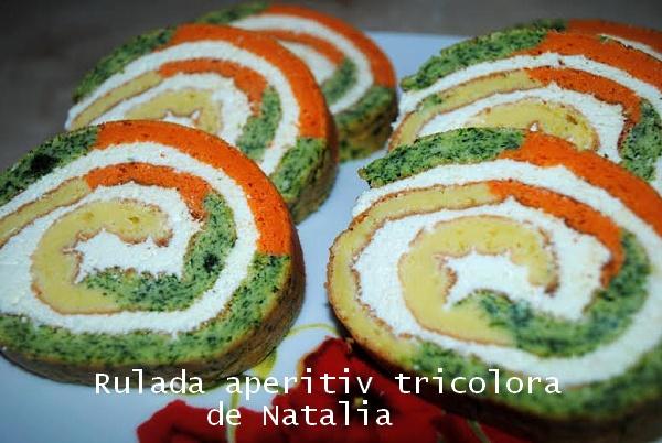 Rulada aperitiv tricolora de Natalia