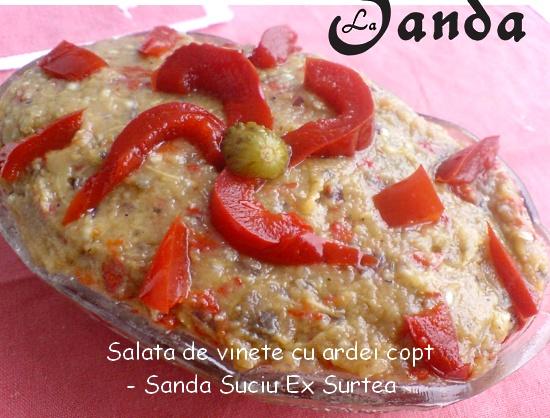 Salata de vinete cu ardei copt - Sanda Suciu Ex Surtea