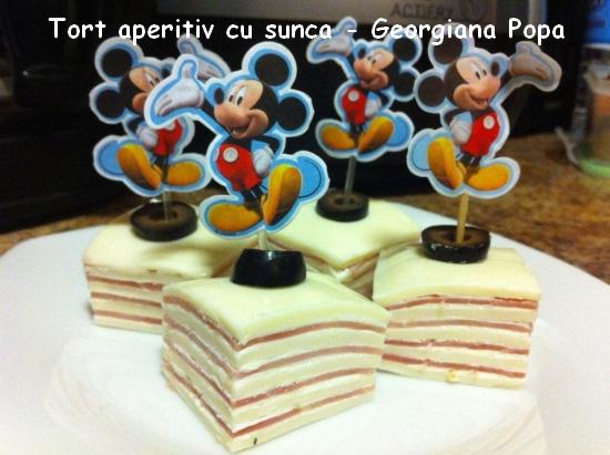 Tort aperitiv cu sunca - Georgiana Popa