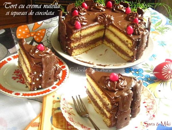 Tort-cu-crema-nutella-si-iepurasi-de-ciocolata-3-1