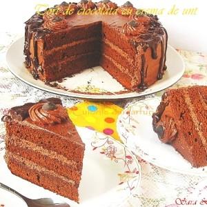 Tort de ciocolata cu crema de unt